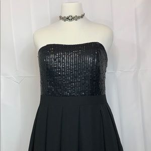 Sequined bodice party dress